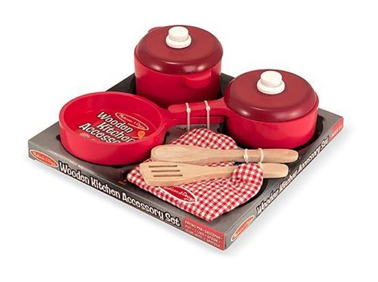 Picture of Melissa & Doug 12610 Wooden Cookware Set