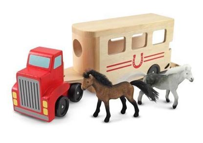 Picture of Melissa & Doug Horse Carrier Wooden Vehicles Play Set