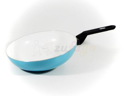 Picture of Berndes 079709 AluColor Stielwok 28cm Blau Induktion