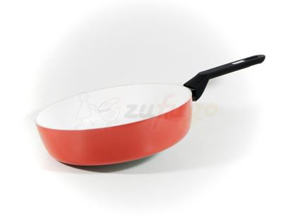 Picture of Berndes 079716 Alu Color Induction Schmorpfanne, 28 cm, rot