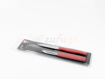Picture of Zwilling 38634-000 TWIN Grip Messerset, 2tlig, rot