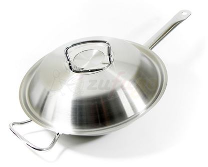 Picture of Fissler 084 833 30 000 original-profi collection Stielwok 30 cm mit Metalldeckel, induktionsgeeignet